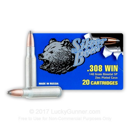 Image 1 of Silver Bear .308 (7.62X51) Ammo