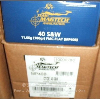 Image 2 of Magtech .40 S&W (Smith & Wesson) Ammo