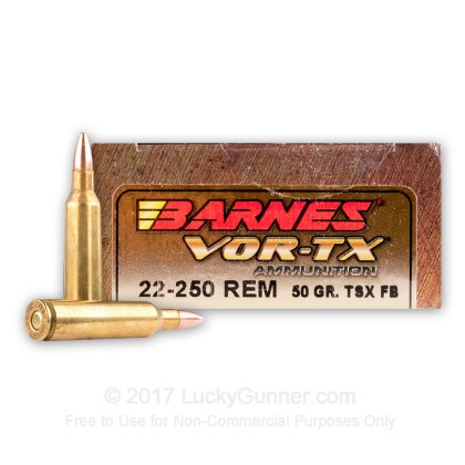 Image 1 of Barnes .22-250 Remington Ammo