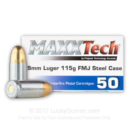 Image 2 of MaxxTech 9mm Luger (9x19) Ammo