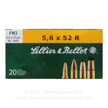Image 1 of Sellier & Bellot 5.6x52 Rimmed Ammo