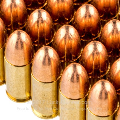 Large image of Cheap 9mm Ammo For Sale - 124 Grain FMJ Ammunition in Stock by Sellier & Bellot from RUAG - 50 Rounds
