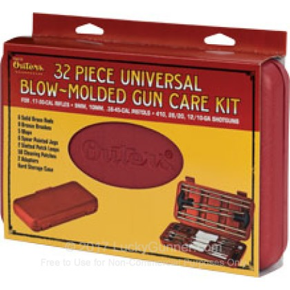 Large image of Outers Universal 32 Piece Blow Molded Cleaning Kit For Sale -  Universal Calibers - Outers Cleaning Kits For Sale