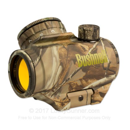 Large image of Rifle Scope For Sale - Trophy Red Dot - 731309 - 3 MOA Red Dot - Realtree AP Bushnell Optics Rifle Scopes in Stock