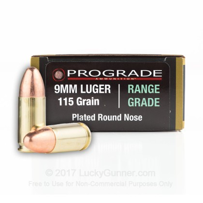 Image 1 of ProGrade Ammunition 9mm Luger (9x19) Ammo