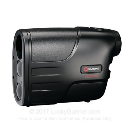 Large image of Simmons LRF 600 Laser Rangefinder - 4x - 10 to 600 Yard Range - Pocket Size - 801408C - Black - In Stock - Luckygunner.com