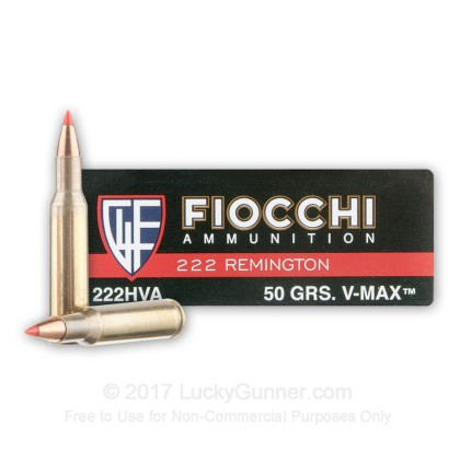 Image 1 of Fiocchi .222 Remington Ammo