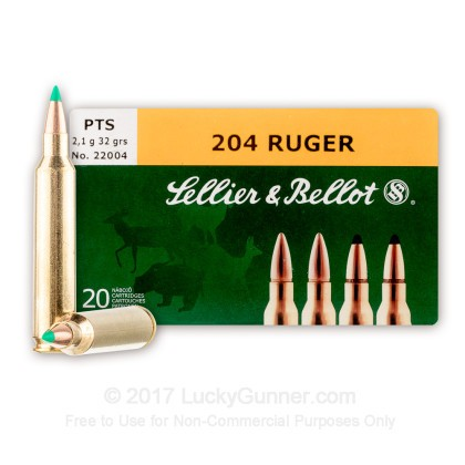 Image 1 of Sellier & Bellot .204 Ruger Ammo