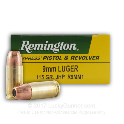 Remington 115 jhp Penetration