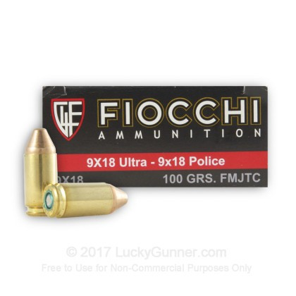 Image 1 of Fiocchi 9x18 Ultra Ammo