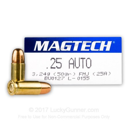 Image 1 of Magtech .25 Auto (ACP) Ammo