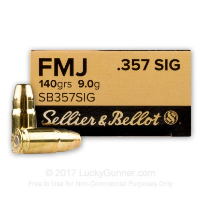 Image 1 of Sellier & Bellot .357 Sig Ammo