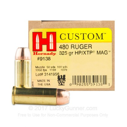 Image 1 of Hornady .480 Ruger Ammo