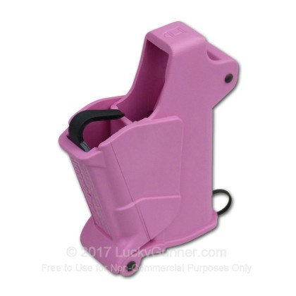 Large image of MagLULA Pink Baby Universal Pistol Magazine Loader For 22LR through 380 ACP handgun magazines For Sale