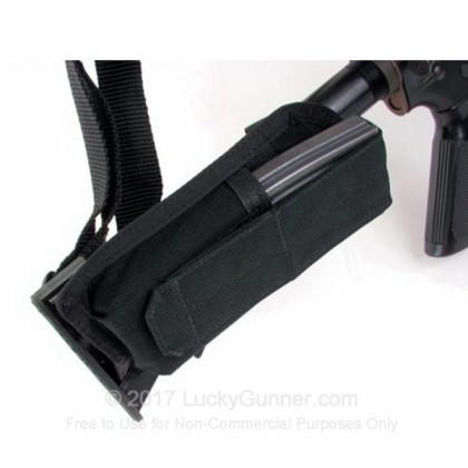 Large image of Buttstock Magazine Pouch - Universal Collapsible Stock - Blackhawk - Black For Sale