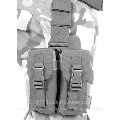 Large image of Quad Magazine Pouch - Drop Leg - AR15 - Blackhawk OMEGA  For Sale