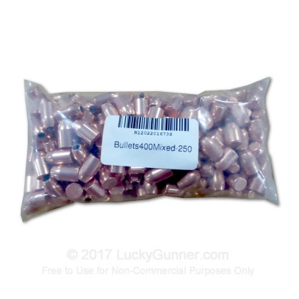Large image of Cheap 40 S&W (.400) Projectiles For Sale - Mixed Bullets in Stock by Various Manufacturers -  250 Count