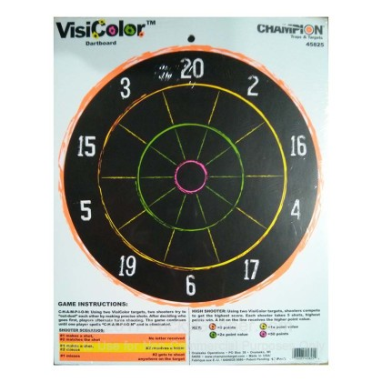 Large image of Cheap Targets For Sale - Visicolor Dartboard Targets in Stock by Champion - 10 Targets