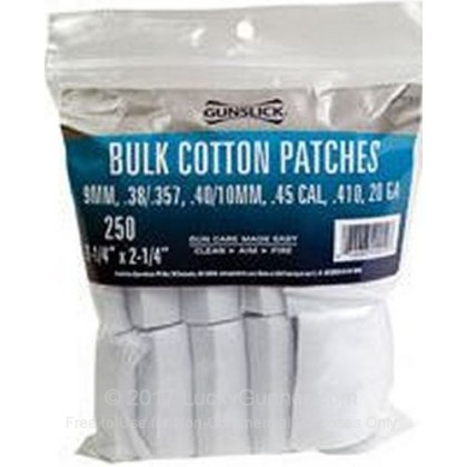 Large image of Gun Slick Cotton Patches for Sale - .38-.45 - Gunslick Pro Cleaning Patches For Sale
