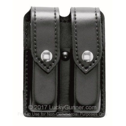 Large image of Glock 19/23 Magazine Pouch - Black Leather Finish