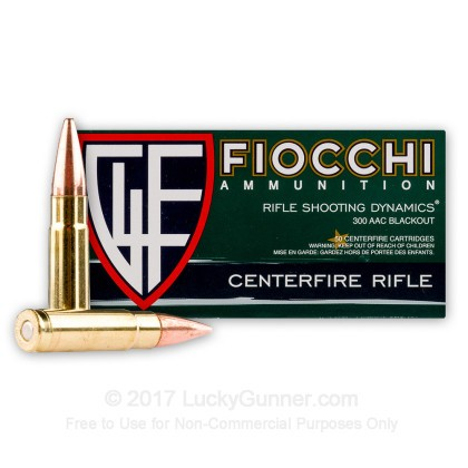 Large image of Bulk 300 AAC Blackout Ammo For Sale - 150 gr Full Metal Jacket - Fiocchi Ammunition - 500 Rounds