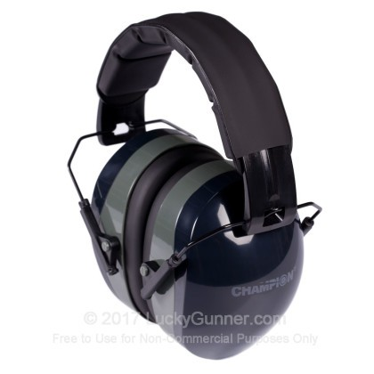 Large image of Champion Black Earmuffs For Sale - 26 NRR - Champion Hearing Protection in Stock