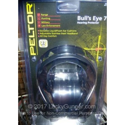 Large image of Peltor Black Bull's Eyes 7 Passive Earmuffs For Sale - 27 NRR - Peltor Hearing Protection in Stock