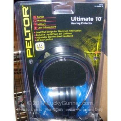 Large image of Peltor Blue Ultimate 10 Passive Earmuffs For Sale - 30 NRR - Peltor Hearing Protection in Stock