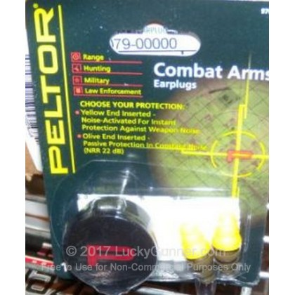 Large image of Peltor Combat Arms Ear Plugs For Sale - 22 NRR - Peltor Hearing Protection in Stock