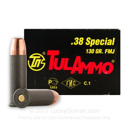 Image 2 of Tula Cartridge Works .38 Special Ammo