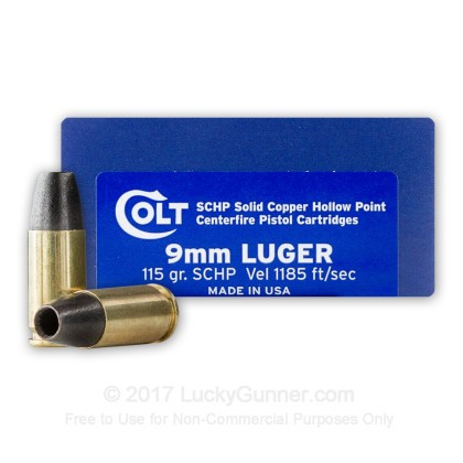 Image 1 of Colt 9mm Luger (9x19) Ammo