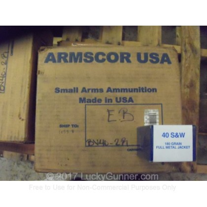 Image 4 of Armscor .40 S&W (Smith & Wesson) Ammo