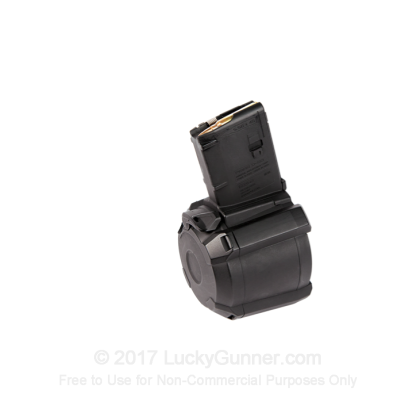 Large image of Premium 5.56/.223 Magazine For Sale - AR-15 Black Magazine in Stock by Magpul PMAG D-60 - 60 Round