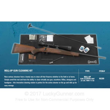 Large image of Gun Cleaning Kit - Roll Up Cleaning Mat - 26 Piece Universal Kit - Gunslick For Sale