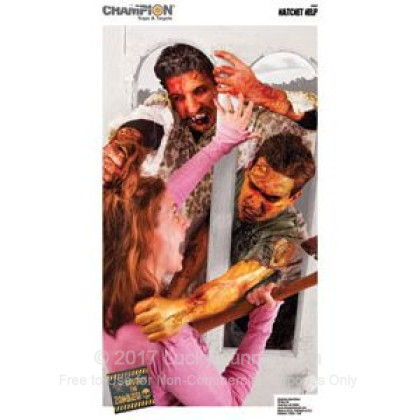 Large image of Champion Zombie Hatchet Help Targets For Sale - Zombie Targets In Stock