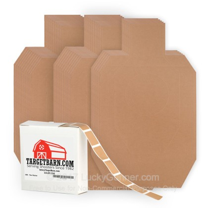 Large image of 25 Target Barn - IDPA Cardboard Silhouette With 1000 Pasters - In Stock