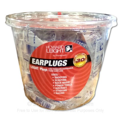 Large image of Earplugs From Howard Leight For Sale Online at LuckyGunner.com - 100 Pairs of Uncorded Earplugs - R-LPF-1-TO