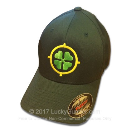 Large image of Lucky Gunner Hat - Cloverleaf Bullseye Logo - Show your support for 2A rights in style!