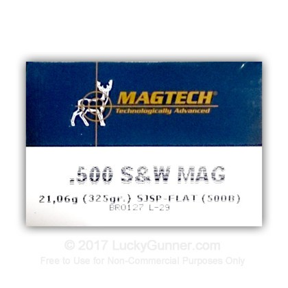 Image 1 of Magtech .500 S&W Magnum Ammo