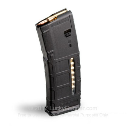 Large image of Magpul AR-15 30rd - 223 - Black - PMAG Gen M2 MOE Window Magazine For Sale