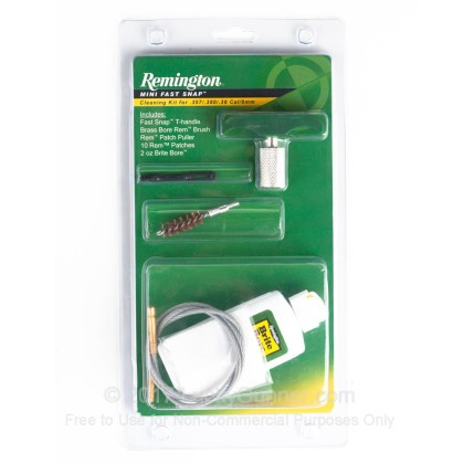 Large image of Remington 19939 .357 / .380 / .38 Cal / 9mm Cleaning Kit for Sale  - Remington Mini Snap Cleaning Kits For Sale