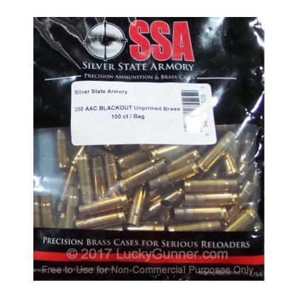 Large image of Cheap 300 Blackout Casings For Sale - New Unprimed Brass Casings in Stock by Nosler SSA - 100