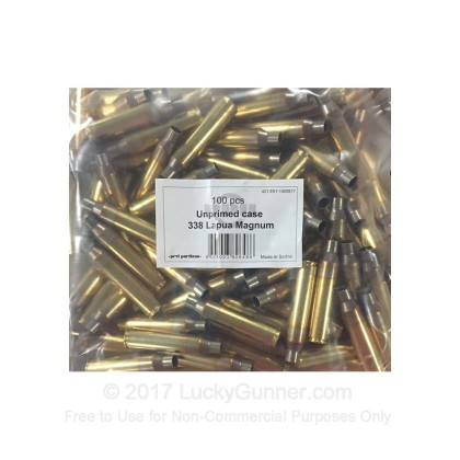 Large image of Cheap 338 Lapua Casings For Sale - New Unprimed Brass Casings in Stock by Prvi Partizan - 100