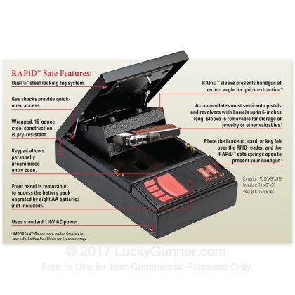 Large image of Hornady RAPiD Handgun Safe For Sale - Hornady RAPiD Safe Digital RFID Handgun Safe For Sale