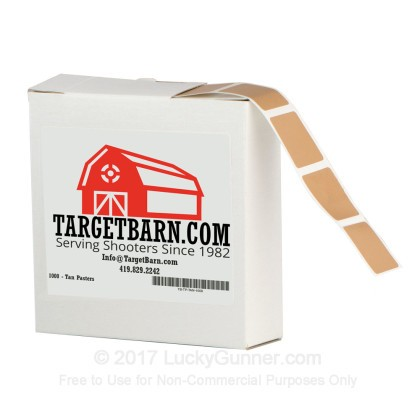 Large image of Bulk Pasters For Sale - Tan Pasters in Stock by Target Barn at Lucky Gunner - 1000 Count