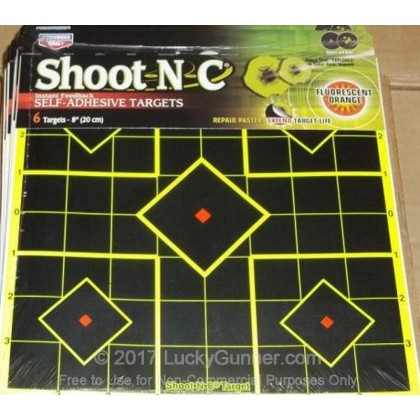 "Large image of Shoot NC Targets For Sale - Shoot NC 34105  8"" Sight-In Targets - Birchwood Casey Targets For Sale"