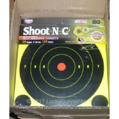 """Large image of Shoot NC Targets For Sale - Shoot NC 34825 8"""" Targets - Birchwood Casey Targets For Sale"""
