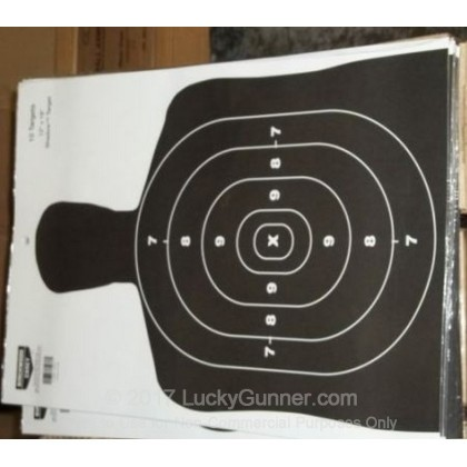 Large image of Birchwood Casey Paper Silhouette Targets For Sale - Black BC27 Targets In Stock