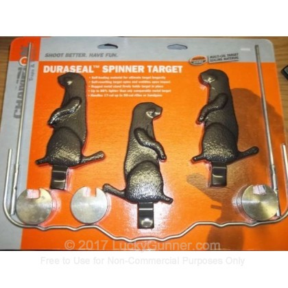 Large image of Champion Duraseal Spinner Targets For Sale - Row of 3 Black Self-Healing Prairie Dog Spinner Target In Stock