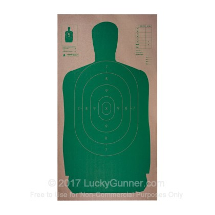 Large image of Targets - Champion - Green B27 Paper Silhouette - 100 Targets In Stock